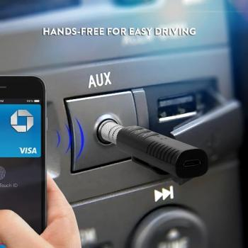 Беспроводной приемник Bluetooth 4.1 аудио AUX 3.5 mm для наушников/колонок/авто