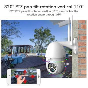 Уличная поворотная  водонепроницаемая WIFI камера 1080P