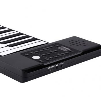 Раскладное гибкое пианино на 61/88 клавиш со встроенной колонкой