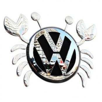 3D наклейка на логотип Краб