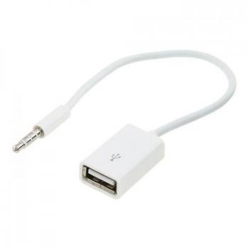 Кабель AUX на USB для подключения флешки к автомагнитоле