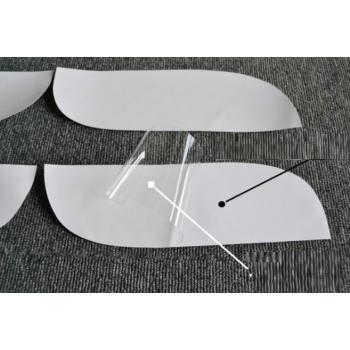 Защитная антигравийная полиуретановая пленка на бампер 24х11см, 4шт