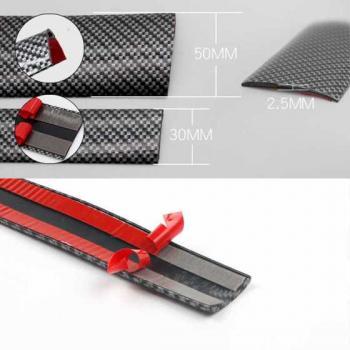 Антигравийная защитная карбоновая наклейка на пороги для авто