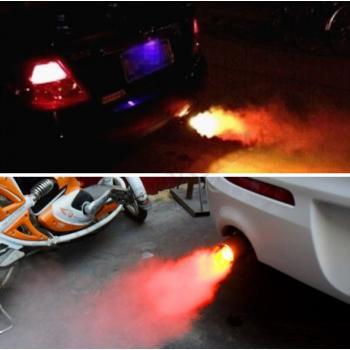 Подсветка выхлопа имитирующая огонь на глушитель авто