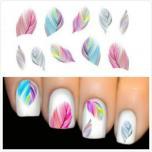 Слайдер-дизайн (водные наклейки на ногти - Перья)
