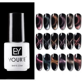 Магнитный гель-лак для ногтей EY YOUR`E с эффектом Кошачий глаз