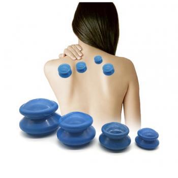 Банки для вакуумного массажа 4 шт (антиаллергенная резина)