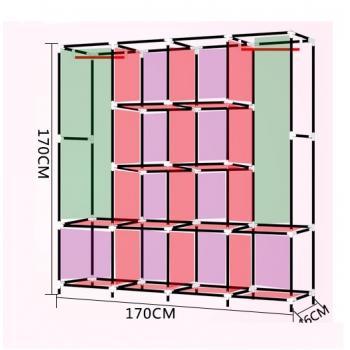 Большой тканевый шкаф 170см*45см*170см