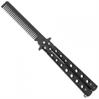 Расческа бабочка - раскладная расческа в виде ножа Балисонг