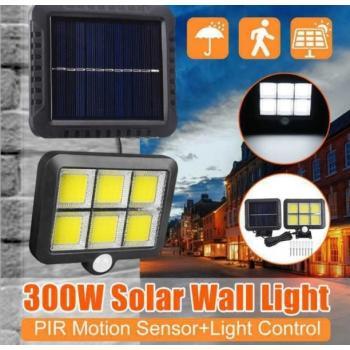 Светодиодный прожектор с датчиком движения на солнечных батареях