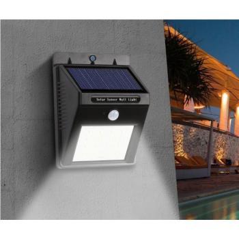 Уличный светильник на солнечной батарее с датчиком движения