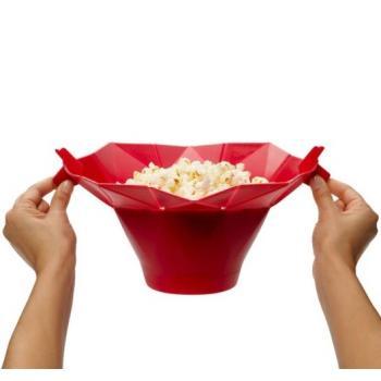 Силиконовая миска для приготовления попкорна в микроволновке
