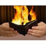 Горящий кошелек с огнем - реквизит для фокусов