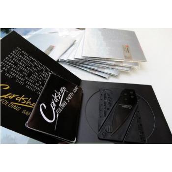 Складной нож-визитка