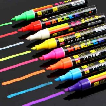 Светящийся маркер флуоресцентный - Жидкий мел