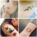 Набор красочных переводных татуировок 30 рисунков
