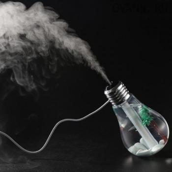 Ароматизатор USB увлажнитель воздуха в форме лампочки с подсветкой