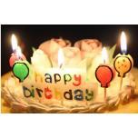 Свечи для торта Happy Birthday