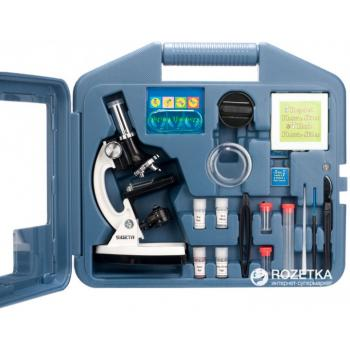 Детский микроскоп 1200x в кейсе с держателем для смартфона