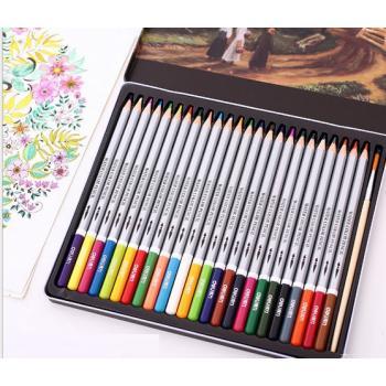 Акварельные карандаши в металлическом пенале