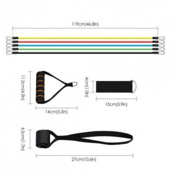 Набор эспандеров для фитнеса Power Bands 5 резиновых жгутов