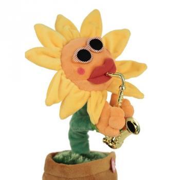 Музыкальная игрушка Танцующий и поющий цветок с саксофоном