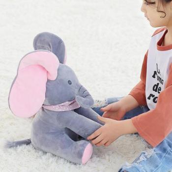 Плюшевый озвученный слоник для детей Peek a Boo