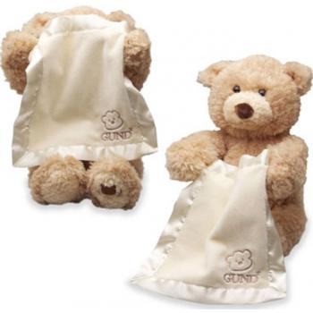 Плюшевый озвученный мишка для малыша Gund Peek a Boo Bear