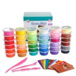 Тесто пластилин для лепки (легкий пластилин) 12-24 цвета
