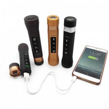 Мультифункциональная колонка аккумулятор фонарик fm-радио