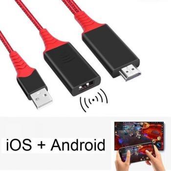 Универсальный HDMI адаптер для проводной и беспроводной трансляции экрана 2 в 1