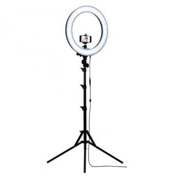 Кольцевая LED лампа для селфи сьемок и макияжа на штативе, селфи лампа
