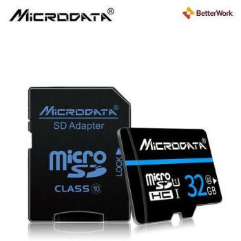 Карта памяти Microdata 16-32-64 GB micro SDHC Class 10 + SD адаптер