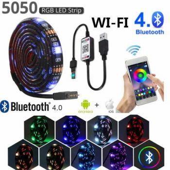 Светодиодная Bluetooth RGB 5050 USB лента для подсветки, влагостойкая