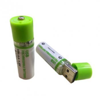 Аккумуляторные батарейки AA, заряжающиеся через USB, 2 шт