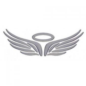 3D наклейка на логотип Ангел
