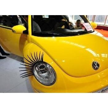 Реснички на фары  автолюбительницам: пусть машинка строит глазки!