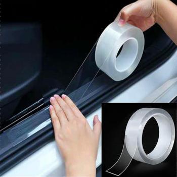 Прозрачная пленка для защиты порогов и дверей автомобиля