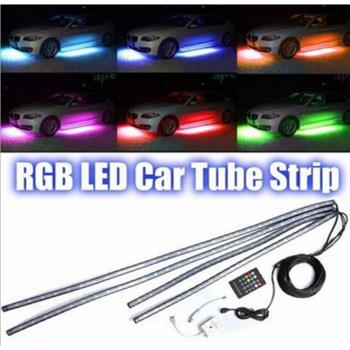 Подсветка днища автомобиля RGB, 16 цветов, 90-120см