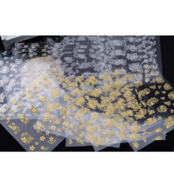 Металлические наклейки для ногтей