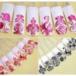 Цветные металлические наклейки для дизайна ногтей