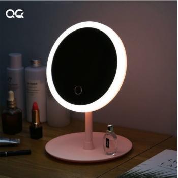 Настольное косметическое зеркало с подсветкой LED для макияжа