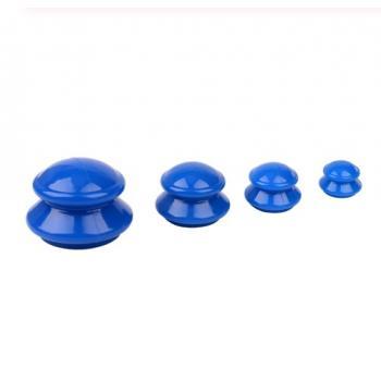 Банки для вакуумного массажа 4 шт (антиаллергенная резина/силикон)