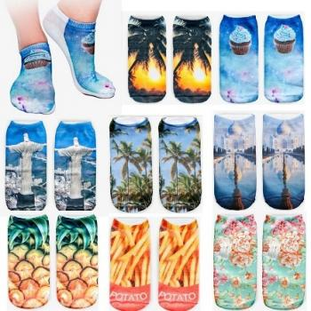 3D носки, прикольные носки с 3D рисунком