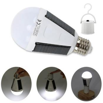 Светодиодная LED лампочка E27 на солнечной батарее 12W