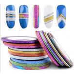Самоклеющиеся бархатные блестящие ленты для дизайна ногтей
