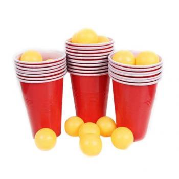 Настольная Игра Beer Pong набор из 24 стакана и 24 мячиков