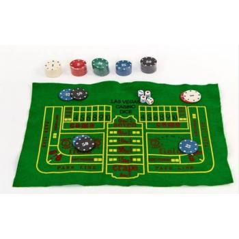 Игровой набор казино 5 в 1 для игры в рулетку, блекджек, покер, кости