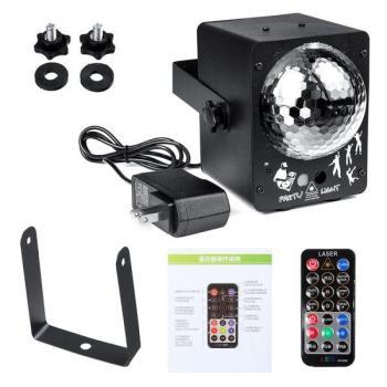 Диско проектор с опцией цветомузыки, стробоскопа и лазерного проектора