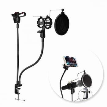 Держатель для микрофона и смартфона для блогеров